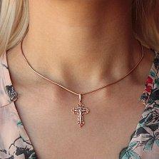 Золотой ажурный крестик Светлые небеса