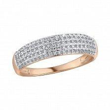 Кольцо Ульяна из красного золота с бриллиантами