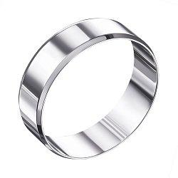 Обручальное кольцо из белого золота 000006383