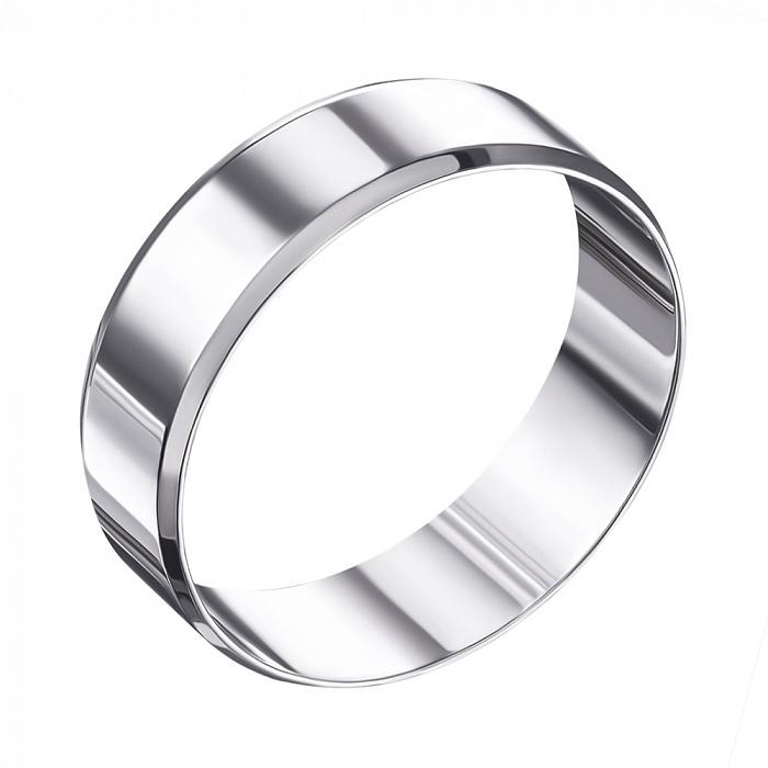 Обручальное кольцо из белого золота 000006383 1007/02/1