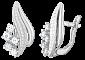 Серебряные серьги с фианитами Гелиодора SLX--С2Ф/037