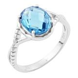 Серебряное кольцо Джовита с синтезированным топазом лондон