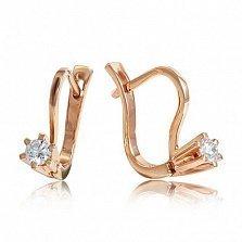 Золотые серьги Герцогиня с бриллиантами