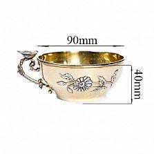 Серебряная чашка с позолотой Песня весны