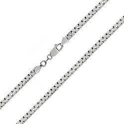 Серебряная цепь с родием, 4 мм 000027911