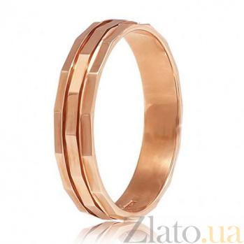 Золотое обручальное кольцо Многогранность чувств 000001672