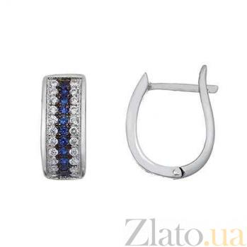 Серебряные серьги Джулия  AQA-JDE-212-3s