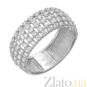 Кольцо из белого золота с фианитами Изольда 11921/б с