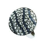 Золотое кольцо с сапфирами и бриллиантами Мелодия