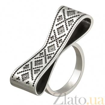 Серебряное кольцо Вышиванка МБ-виш