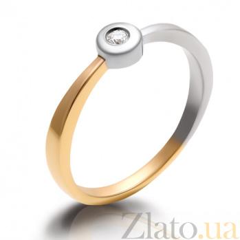 Кольцо из комбинированного золота с бриллиантом Персия 000029389