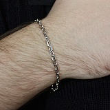 Серебряный родированный браслет Якорная цепь