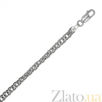 Серебряная цепь Блюз с родированием, 4 мм, 55 см 000027697