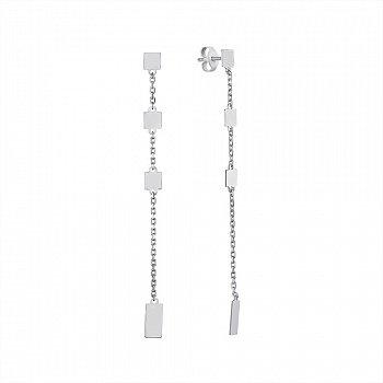 Серебряные серьги-подвески 000146387