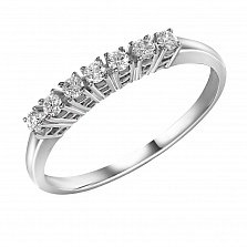 Кольцо из белого золота Джейн с семью бриллиантами