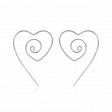 Серебряные серьги Геометрия сердца