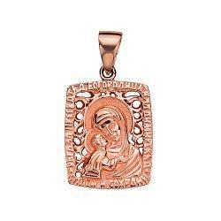 Ладанка Владимирская Богородица из красного золота 000130104