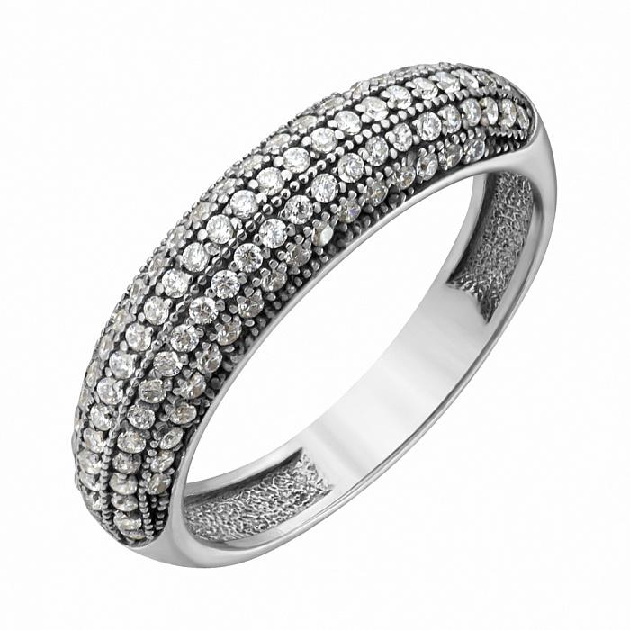 Серебряное кольцо Берта в усыпке фианитов PTL--7к705/01