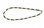 Кожаный шнурок с круглыми золотыми вставками Вильгельм
