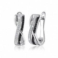 Серебряные серьги Прелесть с фианитами