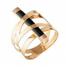 Золотое кольцо Строгие линии с каучуком