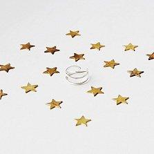 Плетеное кольцо на фалангу «3 линии»  разм.13-15