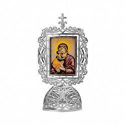 Серебряная икона Божья Матерь с младенцем