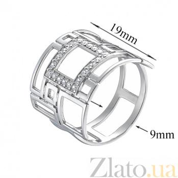 Серебряное кольцо с фианитами Фрейя TNG--320959С