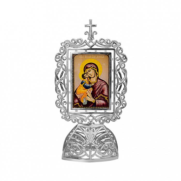 Серебряная икона Божья Матерь с младенцем 000080544