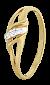 Позолоченное кольцо из серебра с цирконием Люси 000025598