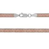 Серебряная цепь Enthusiasm с позолотой, 45 см