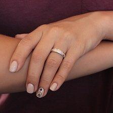 Кольцо из серебра Элли с фианитами