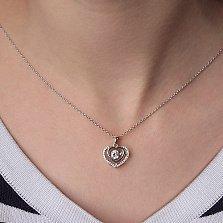 Серебряное колье Венера с цирконием