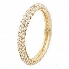 Серебряное кольцо Санни с фианитами