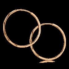 Золотые серьги-конго Ступеньки в небо с гранями по всей окружности