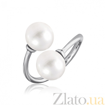 Кольцо из серебра с жемчугом Встреча 000028049