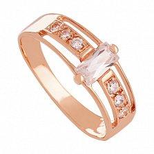 Золотое кольцо с фианитами Баллада о любви