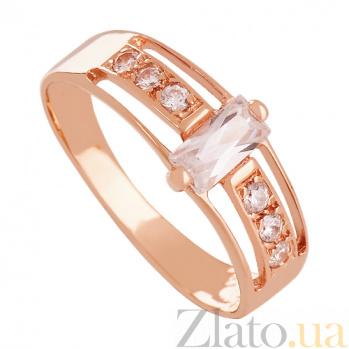 Золотое кольцо с фианитами Баллада о любви 000024361