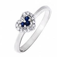 Золотое кольцо Признание с сапфирами и бриллиантами