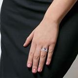 Серебряное кольцо Астра с гранатом