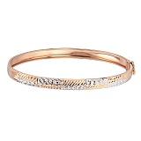 Золотой жесткий браслет Динара с алмазной гранью