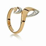 Золотое кольцо с цирконием Акцент