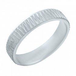 Серебряное обручальное кольцо 000076419