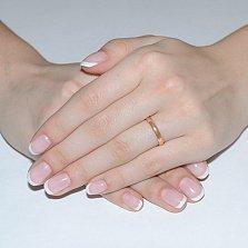 Золотое обручальное кольцо Счастливый союз, 3мм