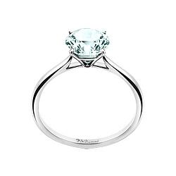 Золотое помолвочное кольцо с аквамарином Лолита