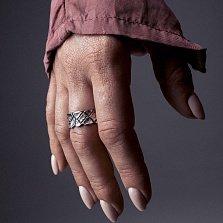 Кольцо из серебра Dry с чернением