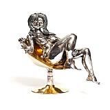 Серебряная статуэтка с позолотой Катрин