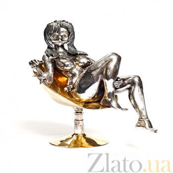 Серебряная статуэтка с позолотой Катрин 1053
