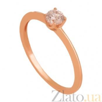 Золотое кольцо с фианитом Весенняя песня 000024348