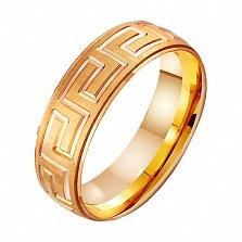 Золотое обручальное кольцо Храм любви